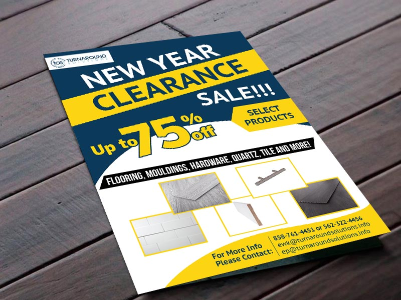 Clearance Sales Flyer Designed by iGeekTeam