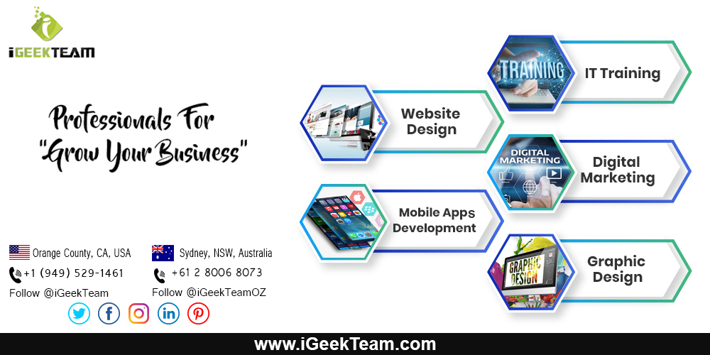 iGeekTeam Services and expertise in Orange County, CA and Sydney, NSW, Australia